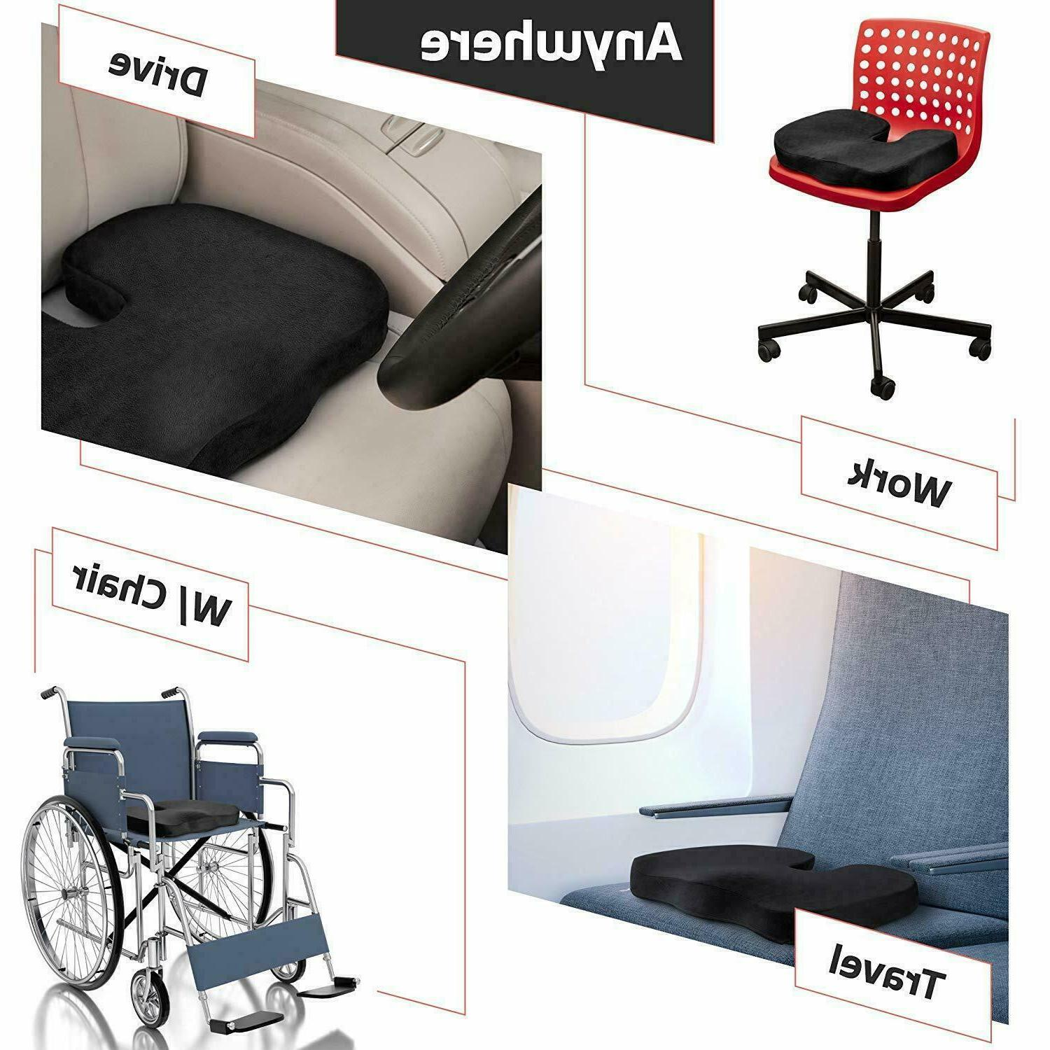 Memory Pillow for Office Seat Pain Coccyx Orthopedic