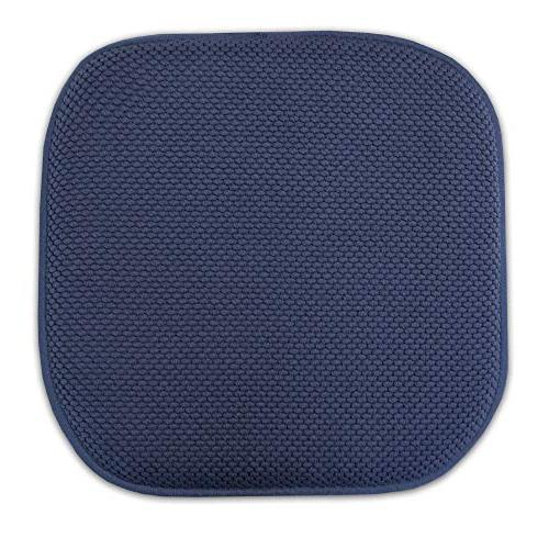 "Sweet Collection Pattern Non Rubber Back Ultimate Comfort and Rounded 16"" Seat Cover, Pack, Navy Piece"