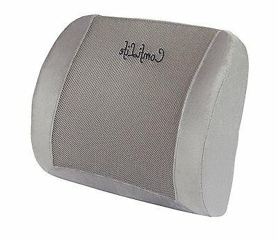 memory foam lumbar pillow with 3d mesh