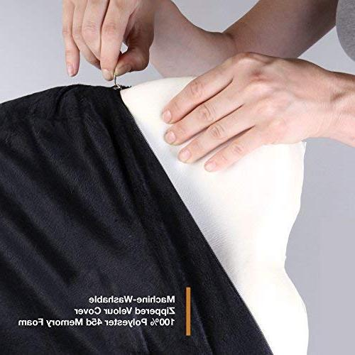 Memory Coccyx Pillow Seat Cushion Prolonged Sitting Car Relief Tailbone, Lumbar,