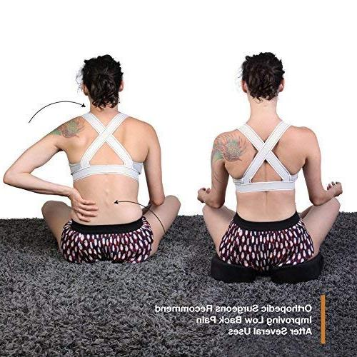 Memory Foam Pillow – Premium Seat Sitting in Relief for Tailbone, Spine, Lumbar, Pregnancy, Hemorrhoids, Pain,