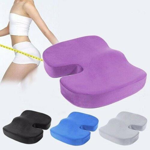 Memory Foam Seat Cushion Chair Breathable Butt Cheek