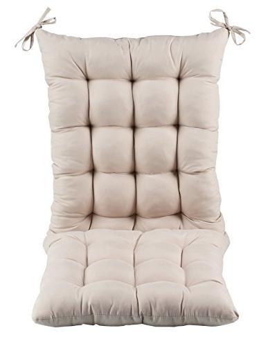 microfiber rocking chair cushion set