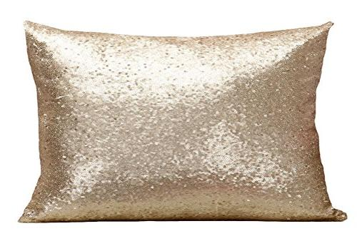 multi glitter sequin throw pillow