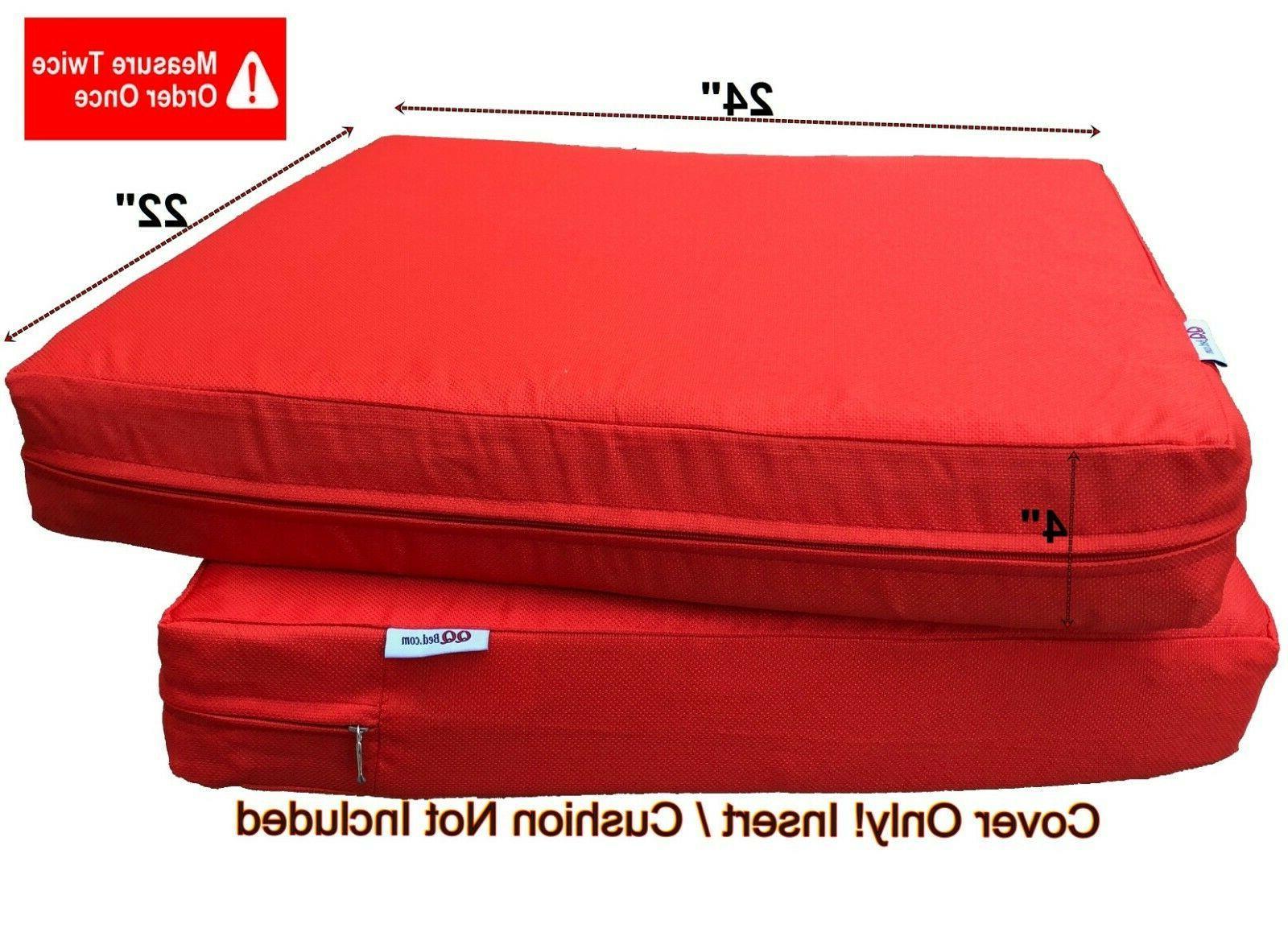 """Multi Pack Seat Chair Cushion Cover Duvet Case 24X22""""X4"""" Tango"""