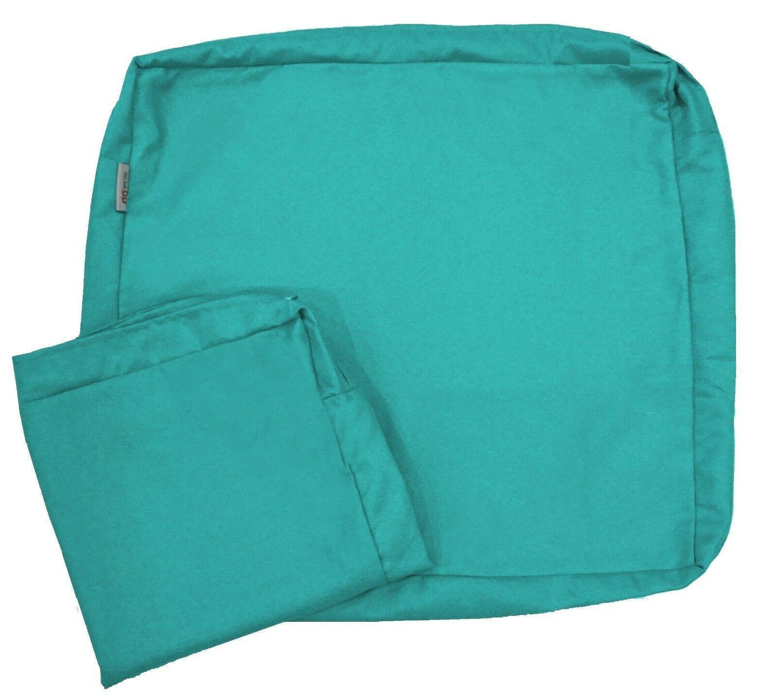"Waterproof Patio Cushion Cover Case 20""X18""X4"" Peacock"