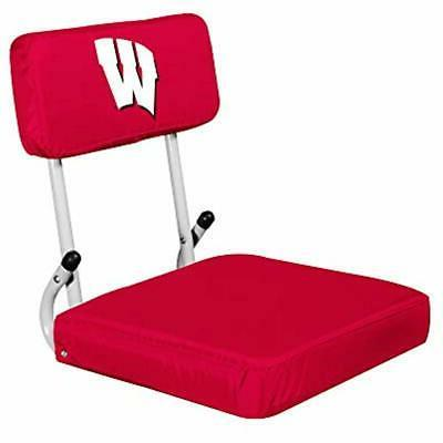 ncaa wisconsin badgers hard back stadium seat