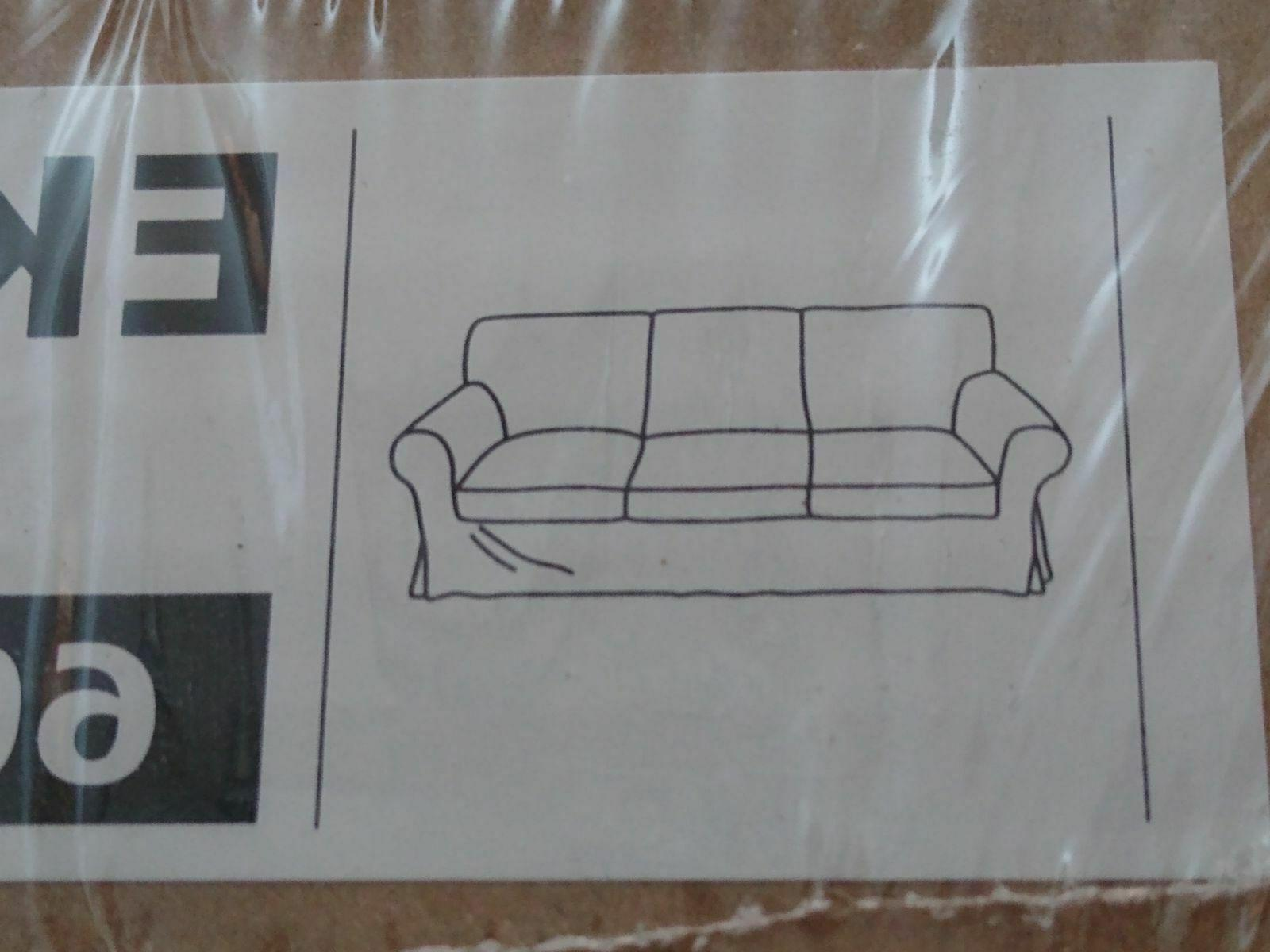 NEW IKEA EKTORP 3 seat sofa cushion cover slipcover only bei