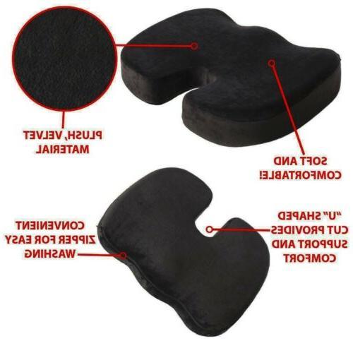 Office Chair Coccyx Orthopedic Pillow Tailbone Memory Foam