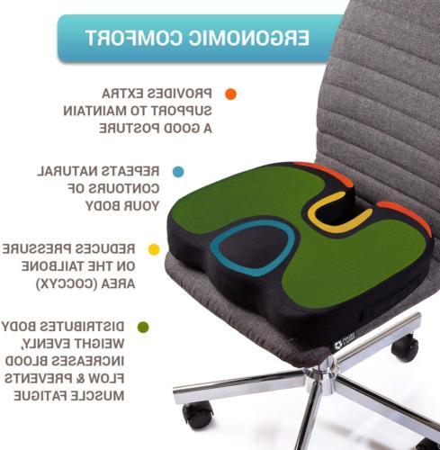 Office Chair Orthopedic Car Pillow Tailbone Memory Foam