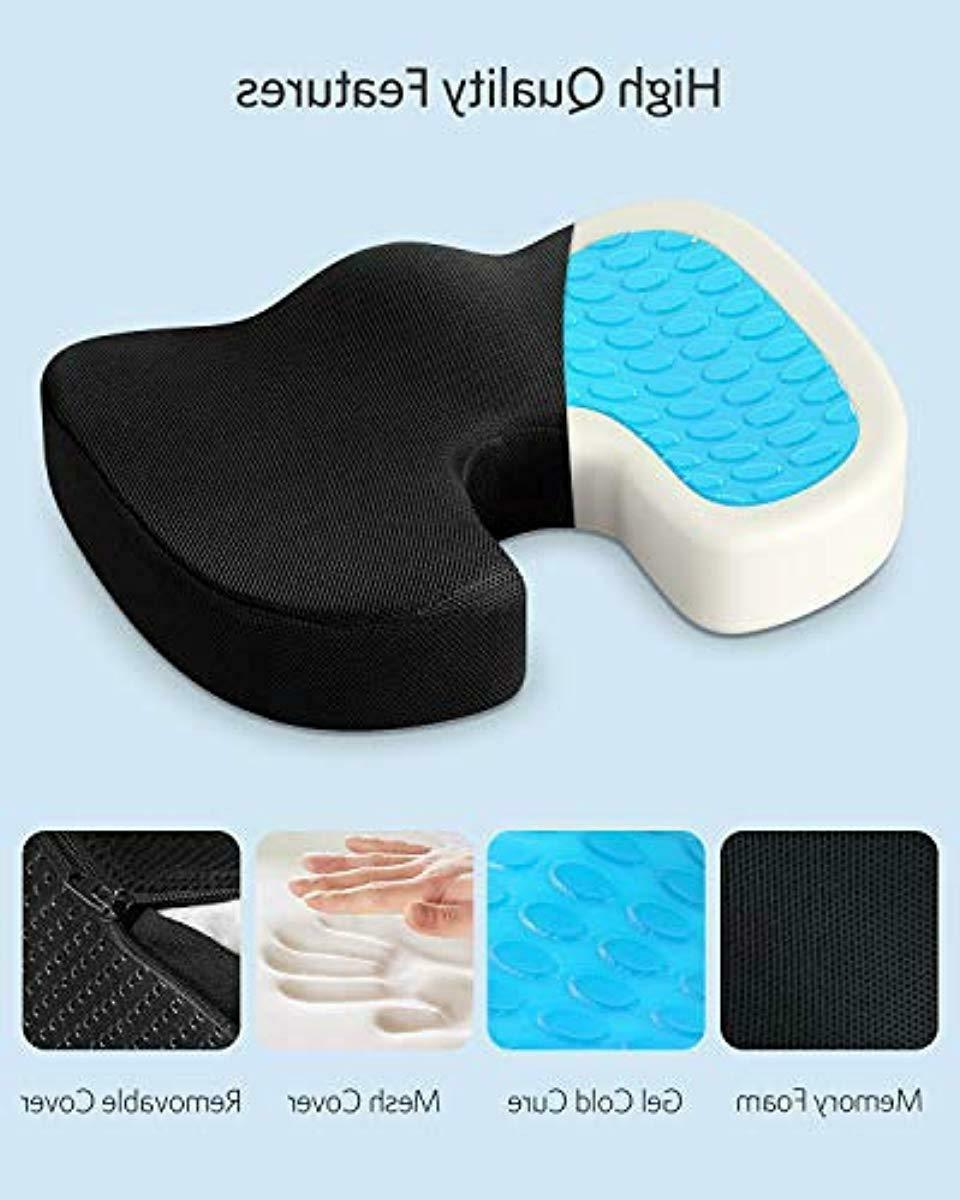 Office Chair Seat Memory Foam Pad Support