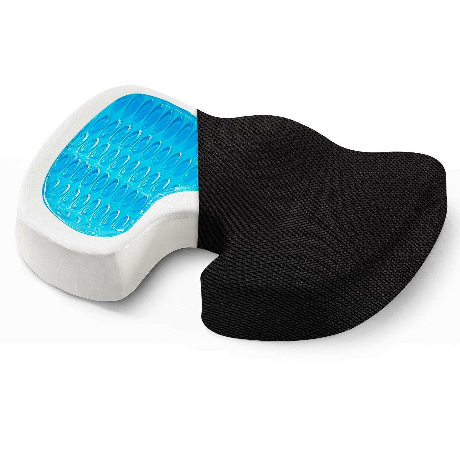 Office Chair Coccyx Cushion Seat Gel Memory Pad Pillow Support