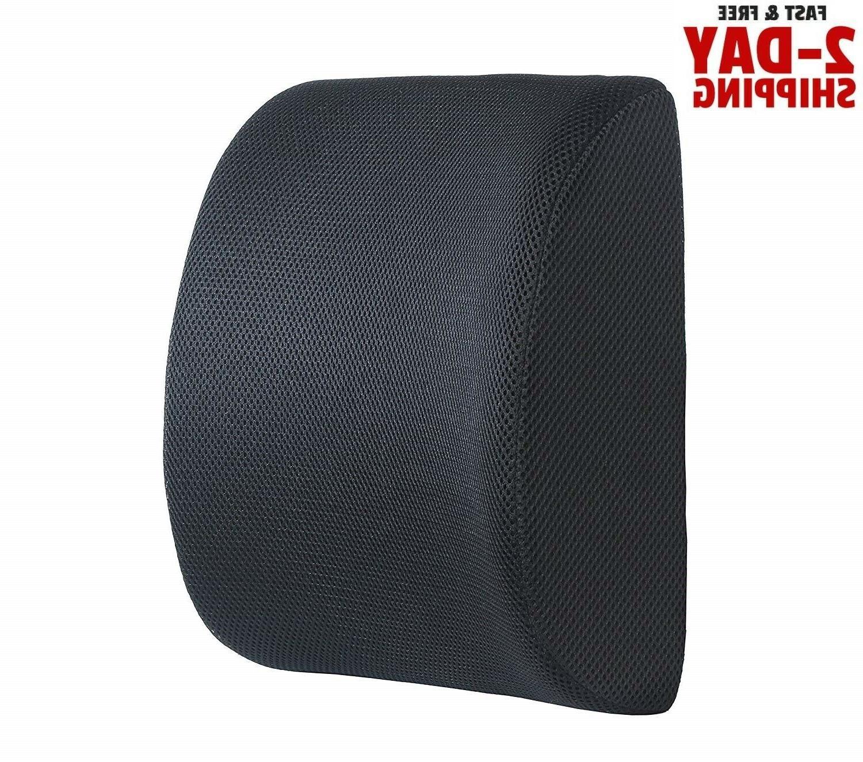 Office Chair Lumbar Support Pillow Memory Foam Car Cushion L