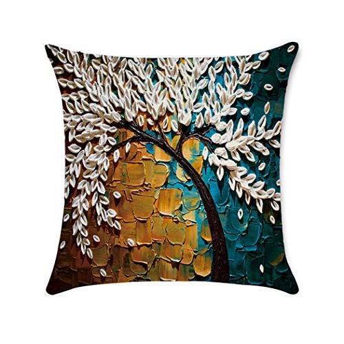 6 Cotton Linen Case Sofa Decorative 18
