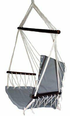 OMNI Patio Swing Seat Hanging Hammock Cotton Rope Chair With