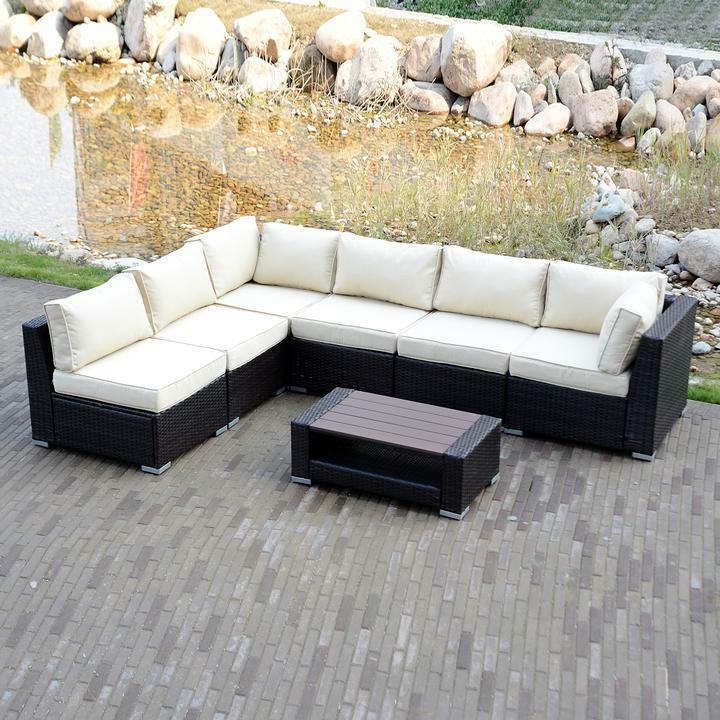option outdoor patio furniture couch rattan wicker