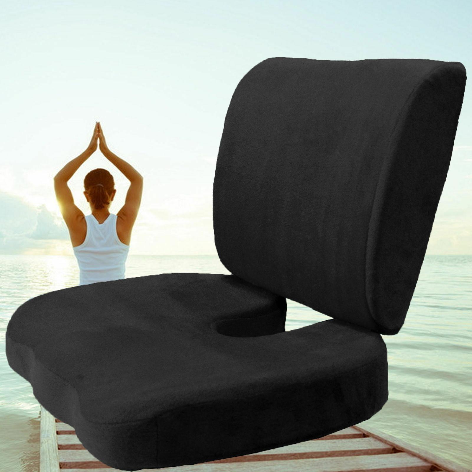 orthopedic comfort memory foam coccyx seat pad