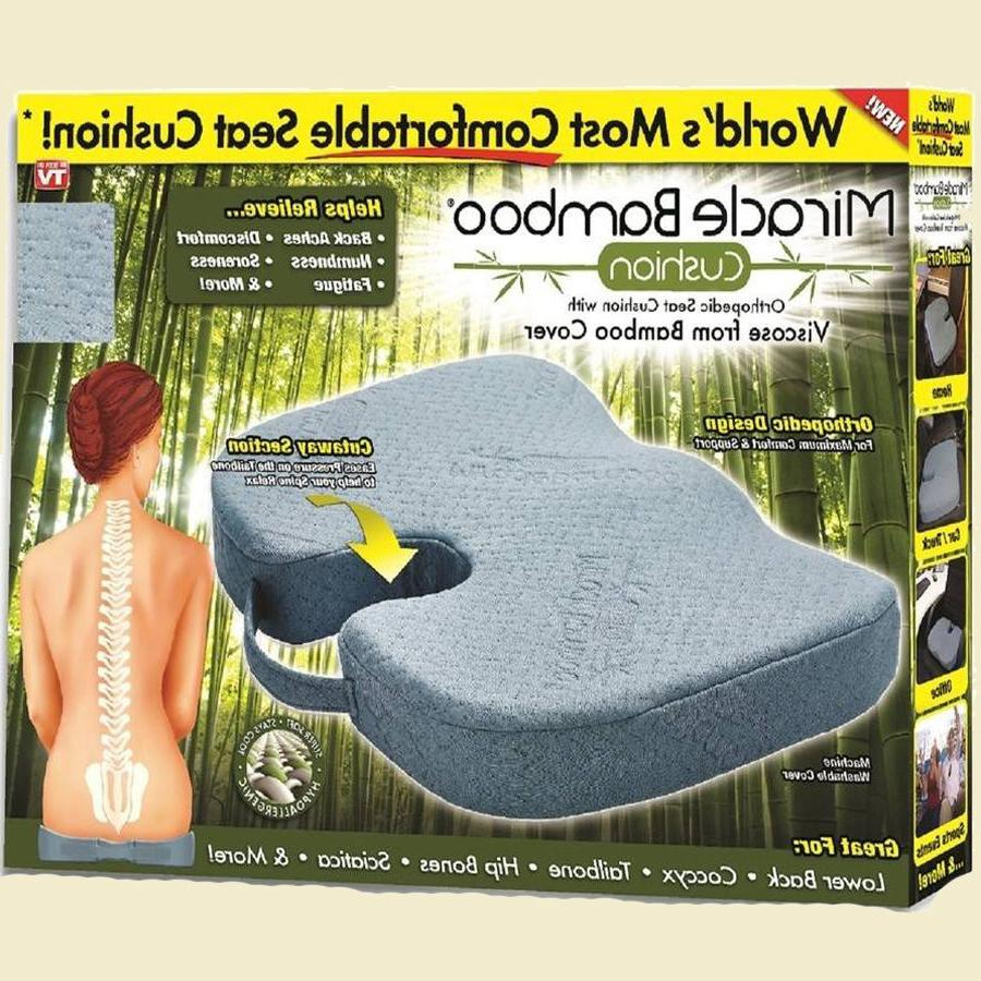 Miracle Orthopedic Bamboo Cushion Comfort Seat Pillow Car AS