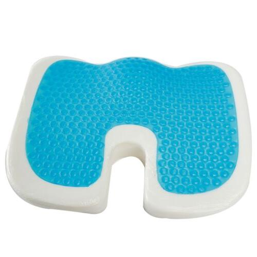 Orthopedic Gel Seat Cushion Memory Office Chair Pad Pillow Hip Back Support