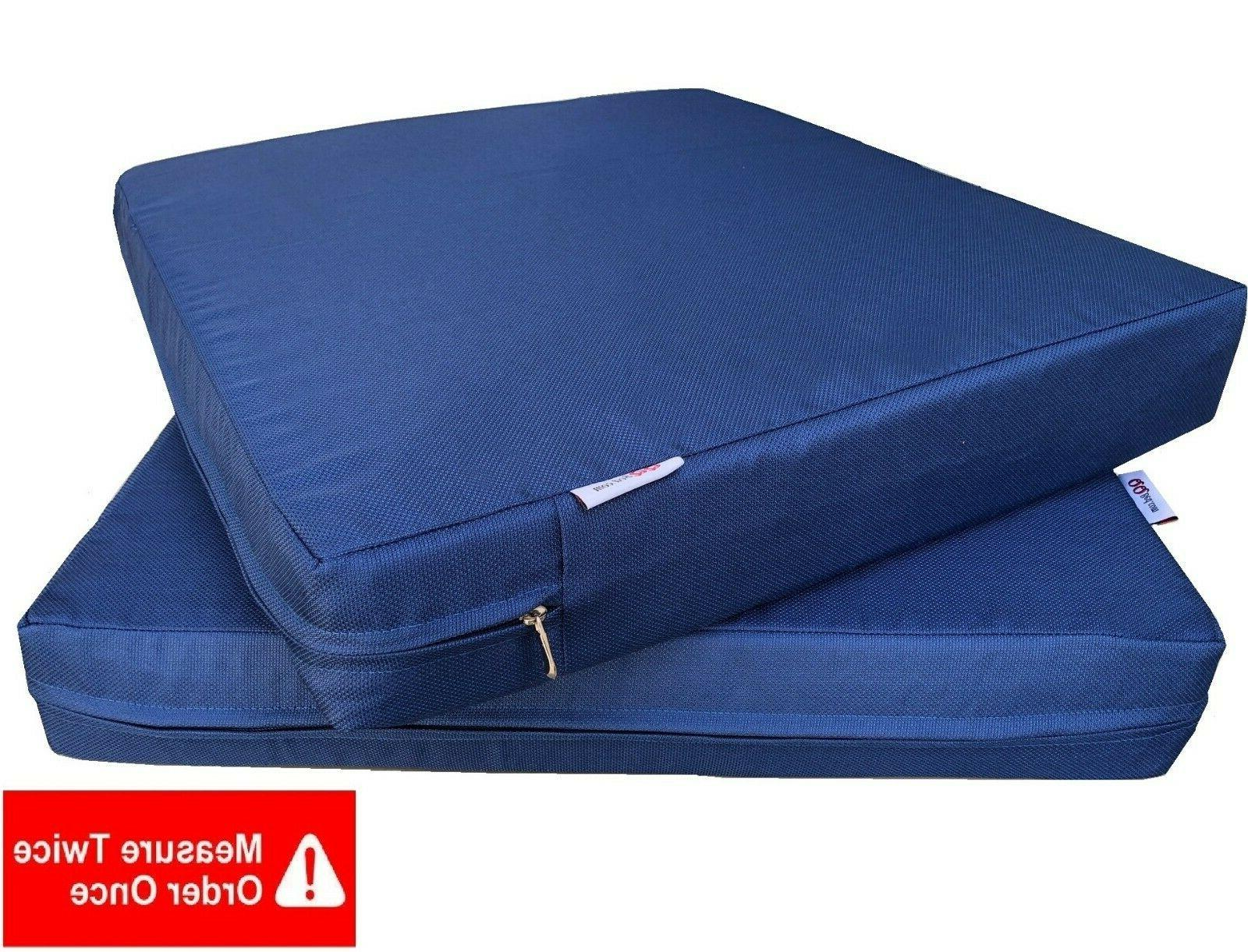 Outdoor 2 Pack Deep Seat Chair Patio Cushions Memory Foam 24