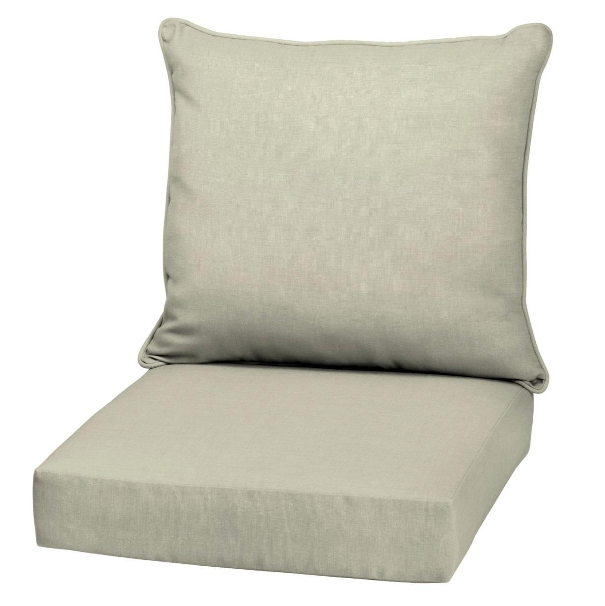 outdoor deep seat chair patio cushions beige