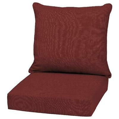 Outdoor Deep Seat Chair Patio Cushions Set Pad Fade Resistan