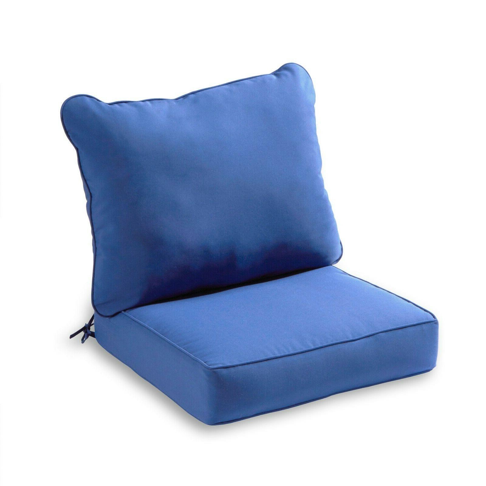 Outdoor Deep Set Chair Pillow Furniture Seating