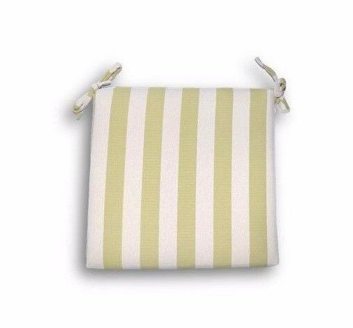 outdoor foam seat cushion w ties green