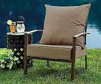 Broyhill Outdoor Linen Deep Seat & Back Cushion Set New Free