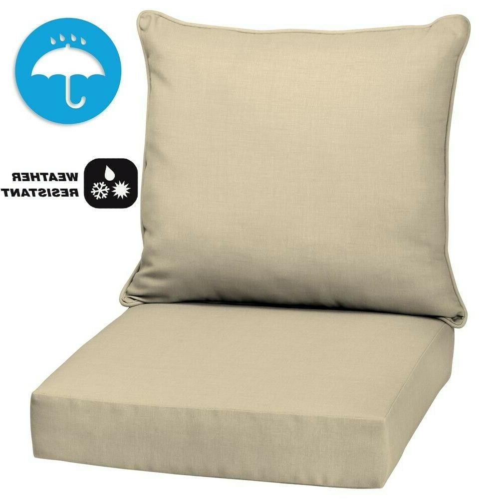 Outdoor Patio Deep Seat Chair Cushion Set Pad UV Water Resis