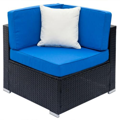 7PCS Outdoor Couch Rattan Cushions Sectional