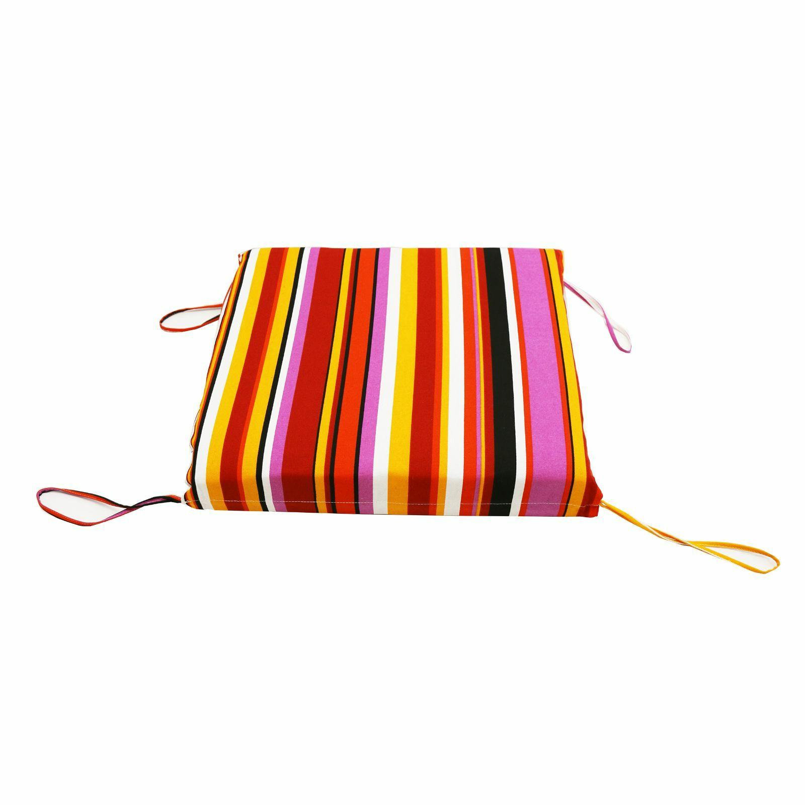 """Outdoor Garden Dining 3"""" Thickness -Rainbow Red"""