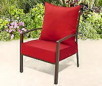 Broyhill Outdoor Red Deep Seat & Back Cushion Set New Freesh