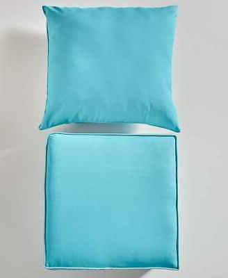 2 Deep Seat Cushion Turquoise Blue Green