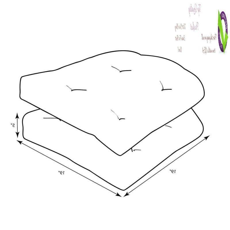 Pillow Perfect Outdoor Topanga Stripe Seat Cushion, 2