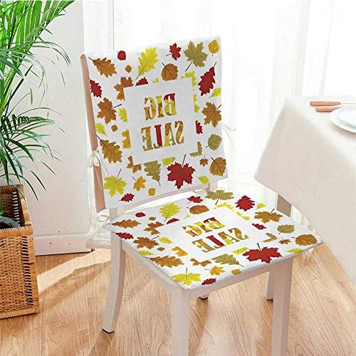pad padSales Banner with Leaves Season Design Panel 13 Cushion
