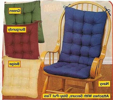 padded rocking chair cushion set