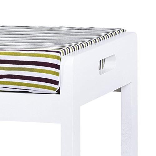 GJH One Storage Bench Shelf Unit Bench White 2 28'' 18''