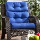 Patio Chair Cushion Set Of 2 Wicker Furniture High Back Deep