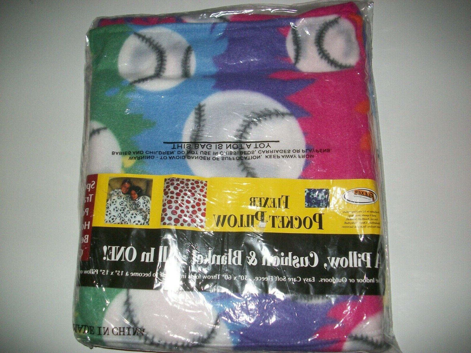 Pocket Blanket Seat Cushion, x Print Varieties