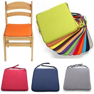 Square Chair Seat Cushion Pads With Ties Kitchen Dining Room
