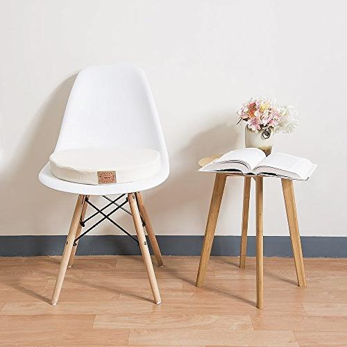 Shinnwa Polyester Cushion Cushion LumbarSupportPillow Home Office Chair White
