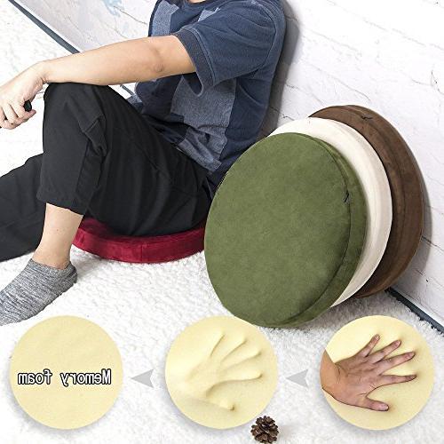 """Shinnwa Polyester Soft Cushion Cushion Short Plush Home White 16"""""""