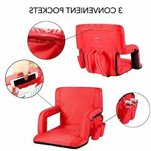 Stadium Portable Chairs Padded Cushion for
