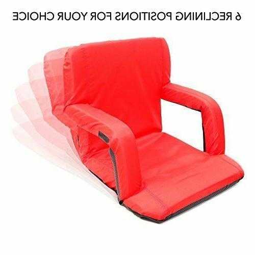Stadium Seat Portable Seats Chairs Reclining Padded Cushion for