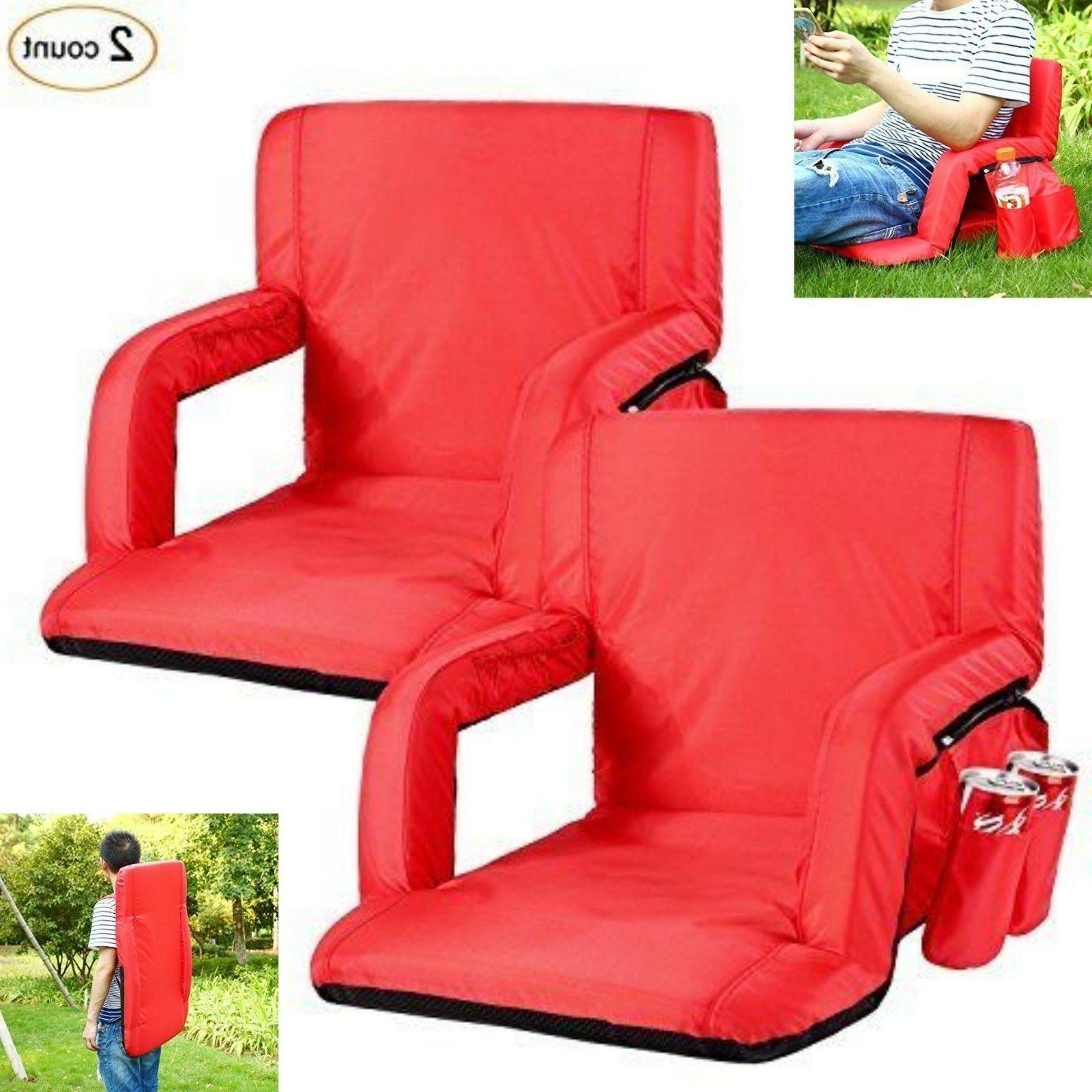 portable seats chairs reclining backs padded cushion