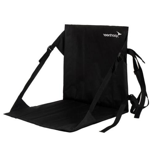 black stadium bleacher cushion chair padded folding