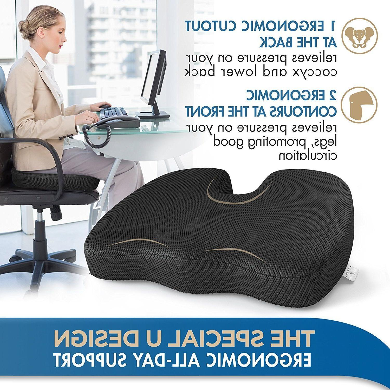 Premium Orthopedic Foam Seat Cushion Padded Pillow