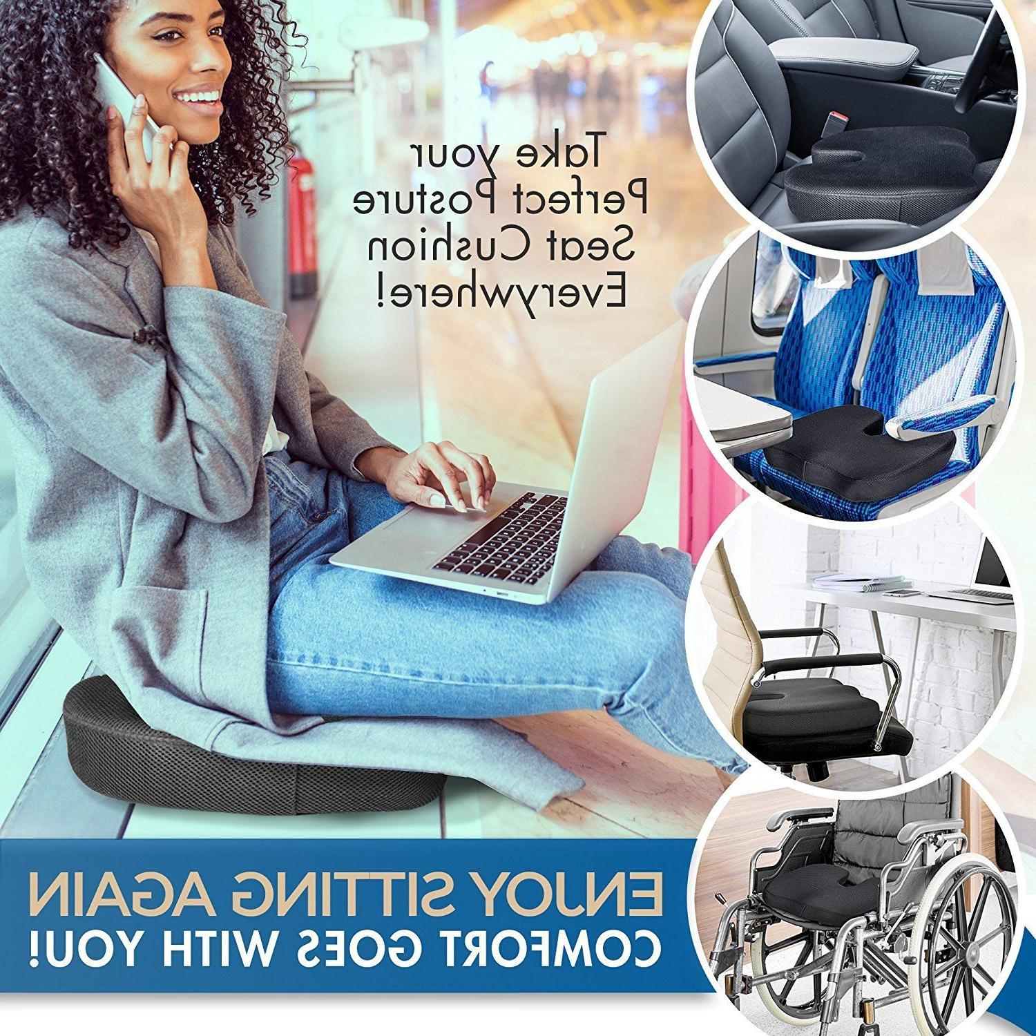 Premium Foam Seat Cushion Padded Pillow