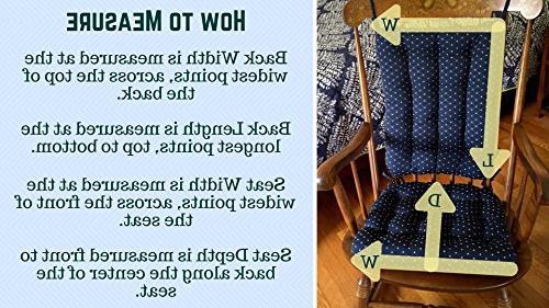 Barnett Products Cushion Brocade Latex Foam Filled Pad and Rest Diamond Pattern